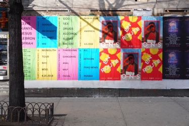 POSTED BILLS IN LOWER EAST SIDE