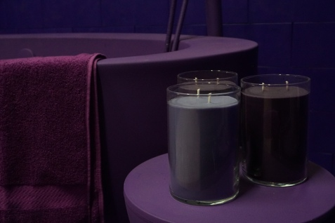 PURPLE CANDLES BY THE PURPLE TUB