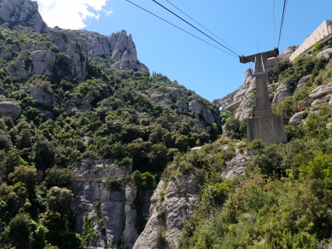 TAKING THE CABLE CAR DOWN